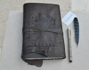 Rustic Brown Leather Journal with Pocket
