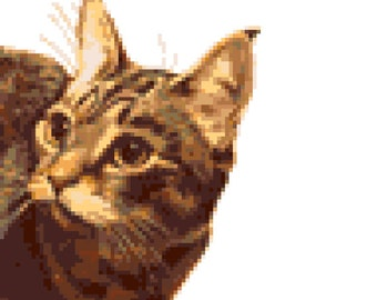 Cat Cross Stitch Pattern ( Printable PDF ) - Immediate Download from Etsy