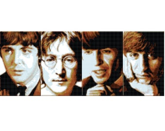 The Beatles Cross Stitch Pattern ( Printable PDF ) - Immediate Download from Etsy