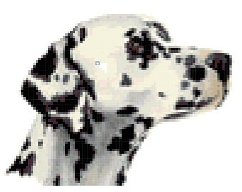 Dog Dalmatian Cross Stitch Pattern ( Printable PDF ) - Immediate Download from Etsy