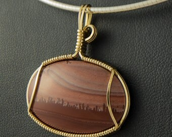 Apache Sage Pendant in Gold Filled Wire