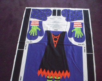 Witch Apron/Oven Mitt Panel