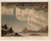 1894 polar lights original astronomy antique celestial print mini crop 2