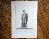 1782 PIRANESI STATUE of VENUS engraving rare & important original antique Italian sculpture etching