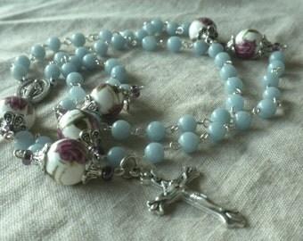 Angelite Rosary