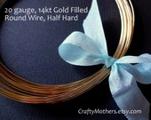 3 feet, 20 gauge 14kt Gold Filled Wire - Round, HALF HARD, 14K/20, wire wrapping, earrings, necklace, precious metals