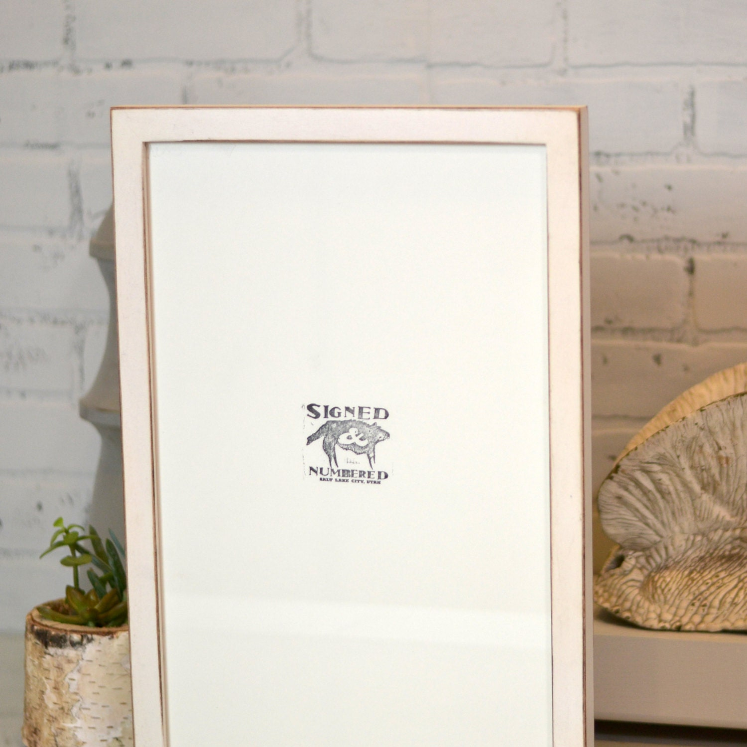 11x17 picture frame in 1x1 flat style with vintage white finish handmade 11x17 frame rustic white wooden art frame 11 x 17