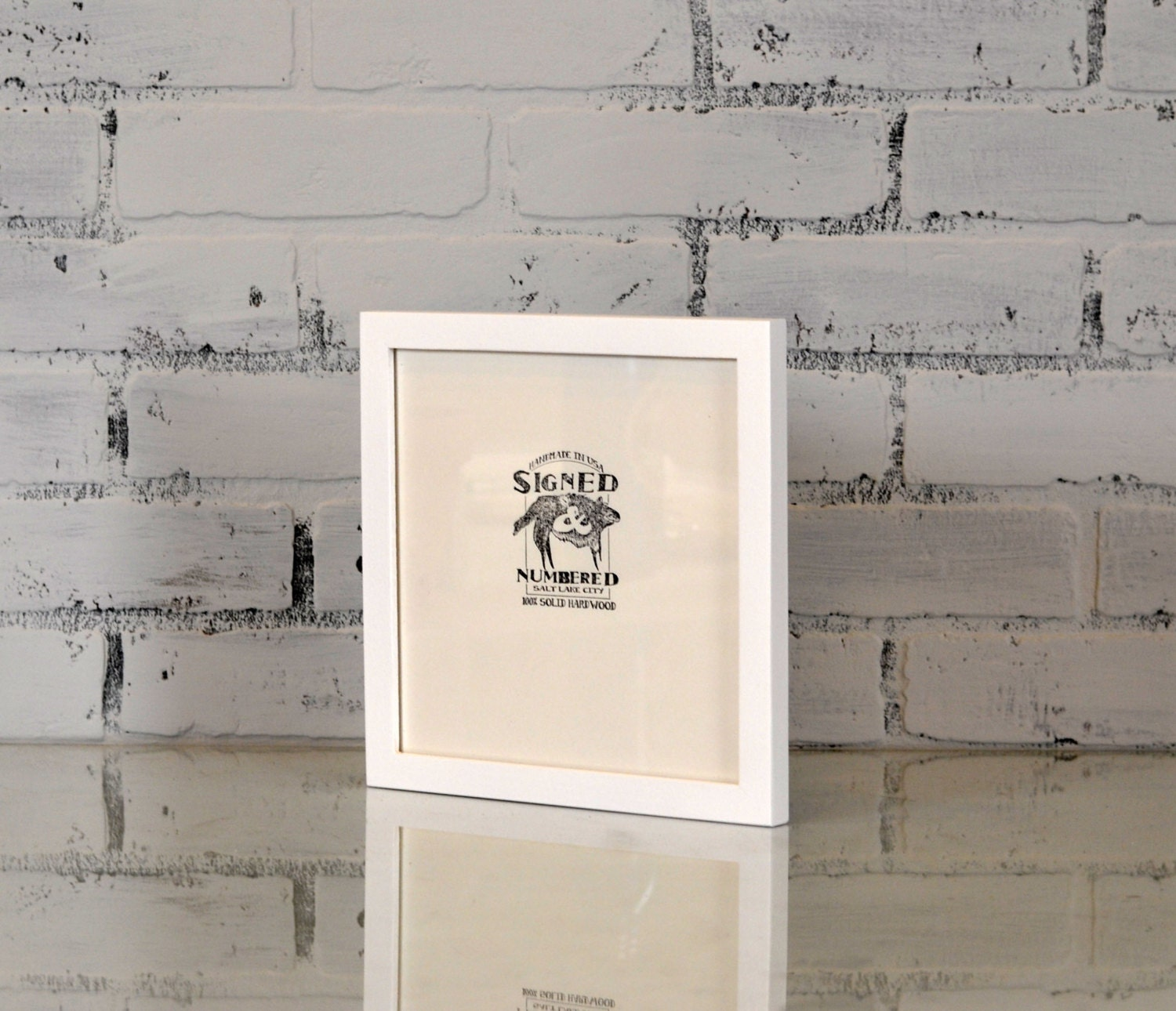 8x8 picture frame in peewee style with solid white finish can be any color modern white frame gallery white frame 8 x 8 square