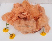 Wool Fluff Basket Stuffer Yellow orange baby pink , Newborn Photo Prop, soft Baby Prop, Wool Basket Filler Premium Huacaya Alpaca Fleece,
