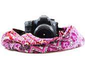 Pixie Plum Scarf SLR Camera Strap