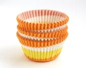 Yellow Swirl Cupcake Liners, Yellow Baking Cups, Yellow Party Cupcake Liners (45)