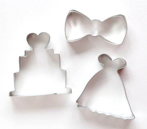 Wedding cookie cutter set wedding dress cookie cutter for Wedding dress cookie cutters