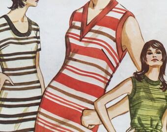 "Sale - Vintage - 1970 - Kwik Sew Pattern #312 - Ladies ""T"" Shirt Dress - Sizes 8-10-12 - Bust 34 - 35 1/2 - 37"""