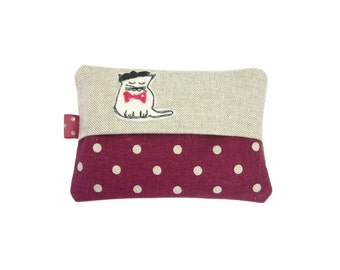 Cat Tissue Case, Travel Tissue Case, Pocket Tissue Cover, Purse Tissue Case, Pocket Tissue Holder,  Stocking Stuffer
