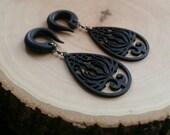 Black Phoenix Gauged Earrings Plugs