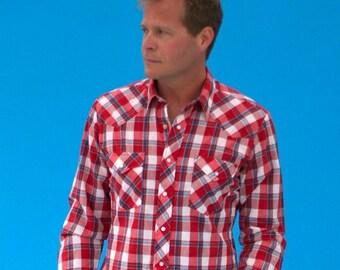 Men's Wrangler Western Classic Checked Work Shirt