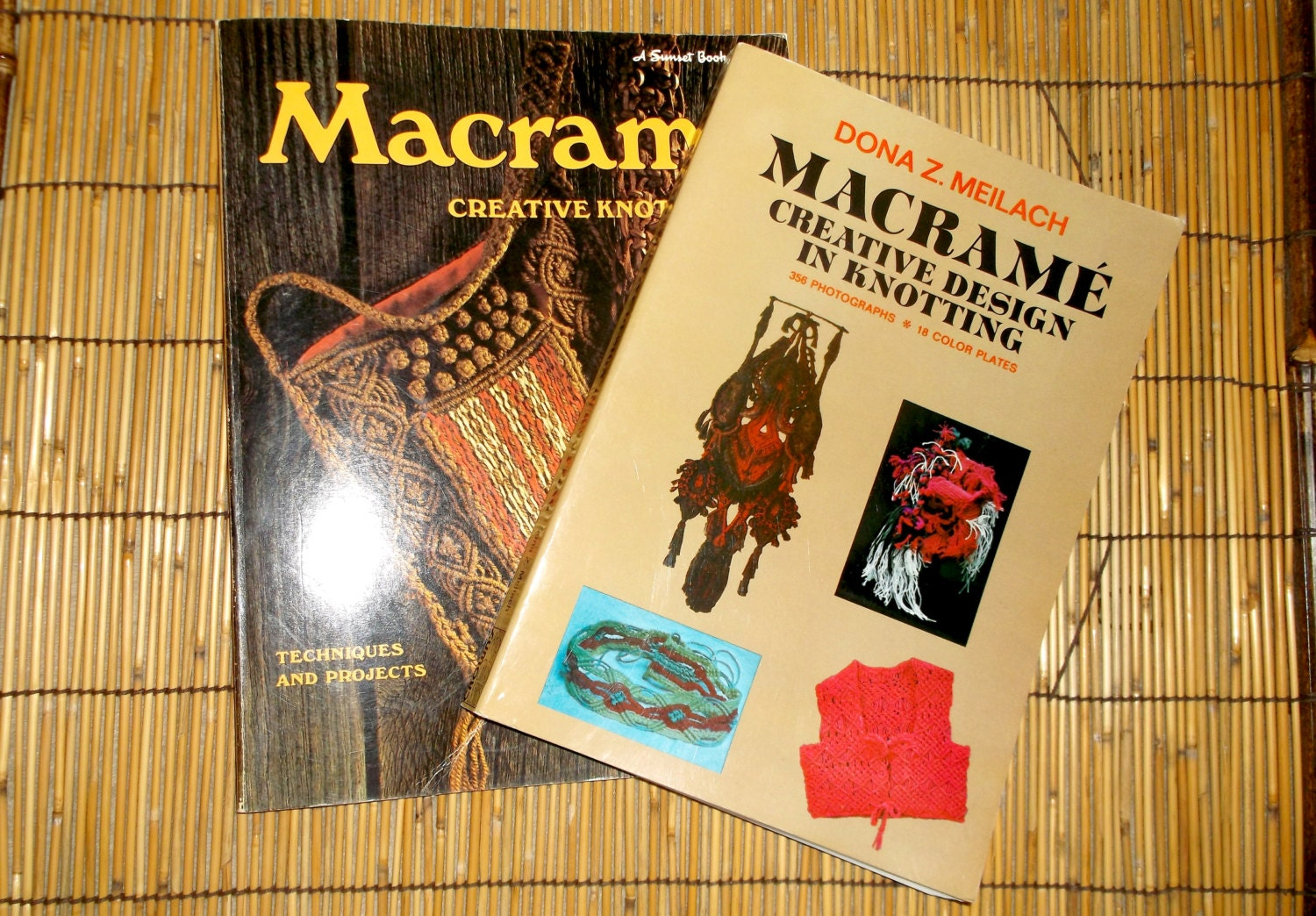 macrame pattern books vintage macrame knot tying pattern books 2 by finders4keepers 1470