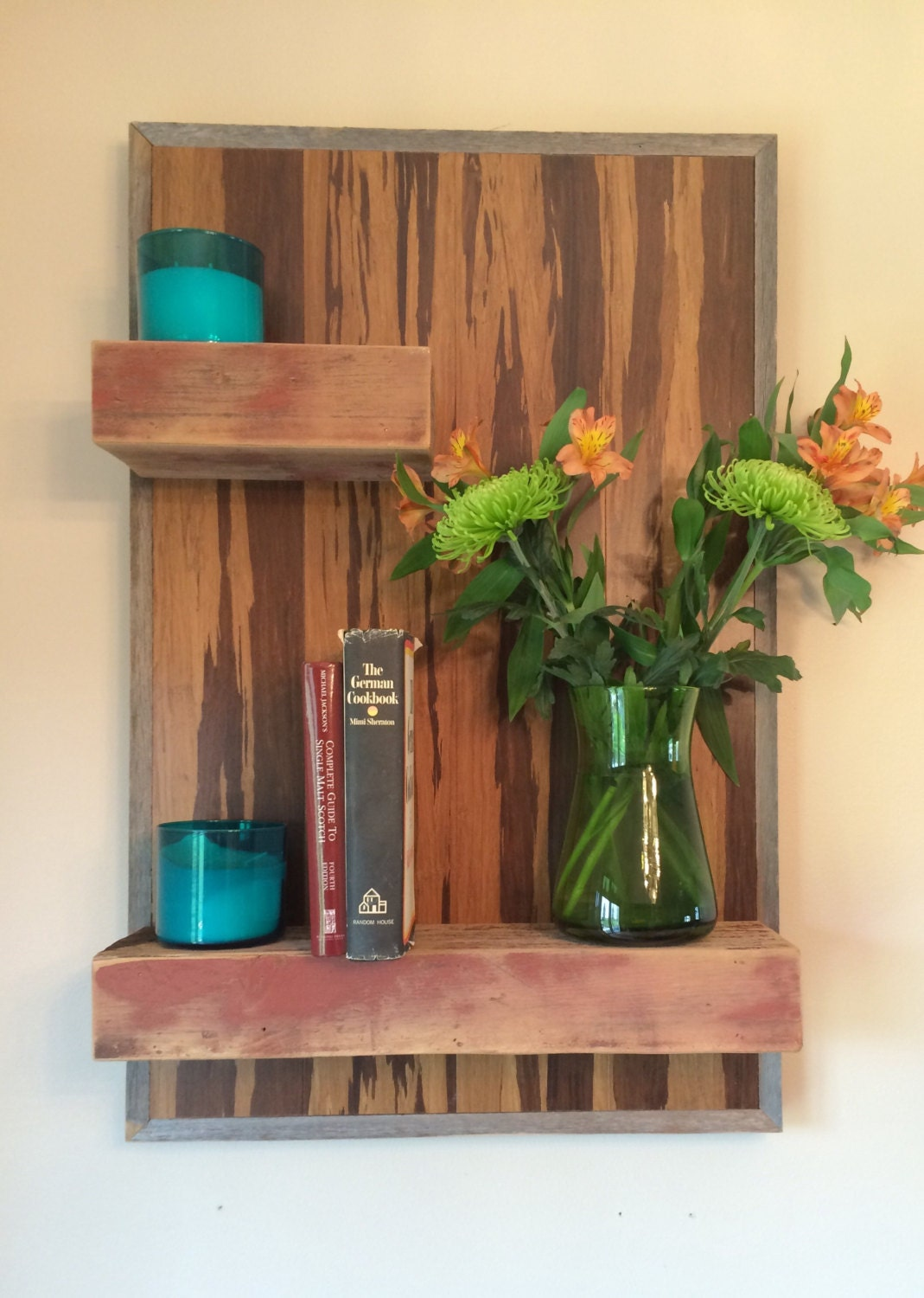 reclaimed barn wood floating shelves mounted by. Black Bedroom Furniture Sets. Home Design Ideas
