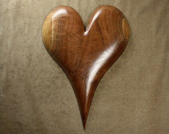 Personalized 5 Year wood Wedding Anniversary Gift Heart Carving