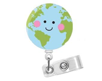 Earth Day - ID Badge Holder - ID Badge Reel - Badge Reels - Nursing Badge - Teacher Badge Reel - Medical Badge - School Badge - Science ID
