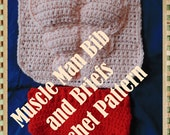 Muscle Man Bib and Briefs  Crochet Pattern PDF- INSTANT DOWNLOAD