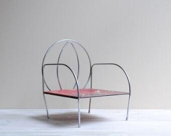 Vintage Child's Chair, Metal Jack N Jill Kid Chair