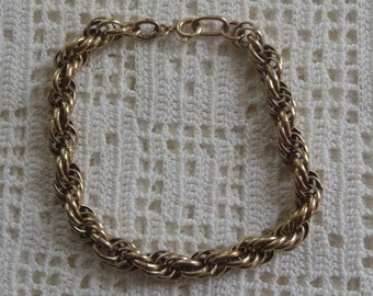 Vintage Charm Bracelet Spiral Links 12K Gold Filled