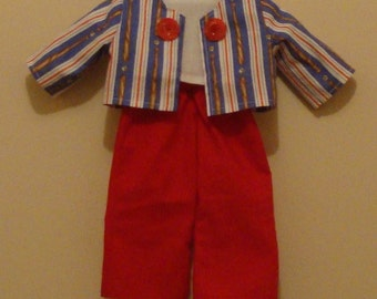Jacket, top and pants for American Girl size or 18 inch doll