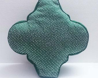 decorative green mughal architectural shaped pillow-home decor-16x16-throw pillow-wedding pillow- designer accent pillow-modern pillow