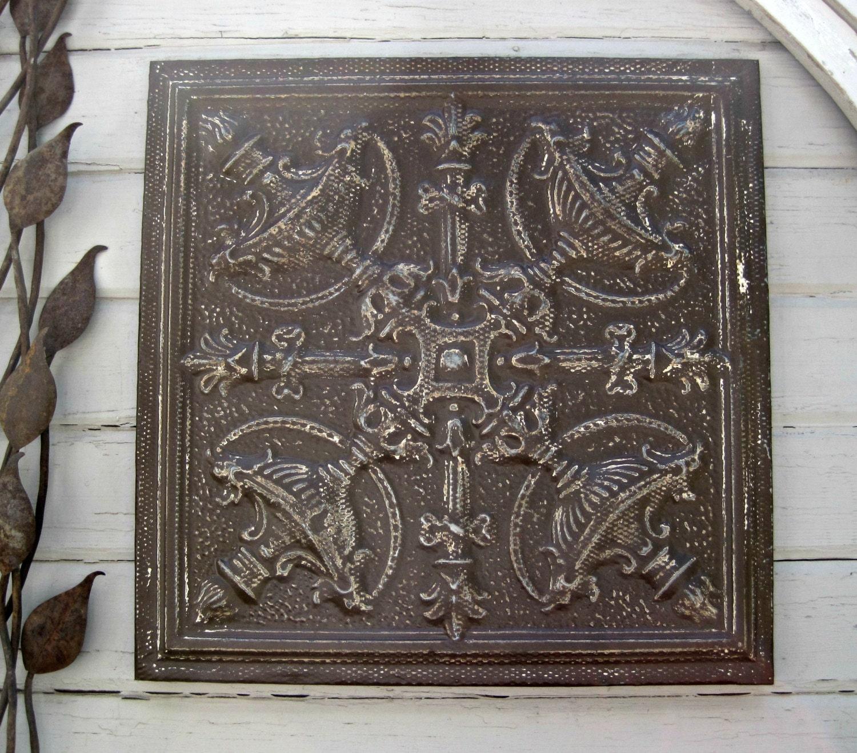 Decorative tin panel Etsy