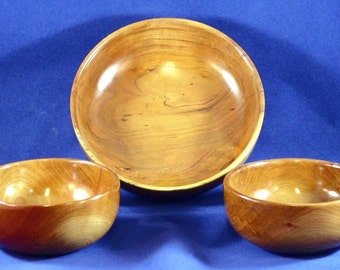 Wooden Salad Bowl Set - Cherry