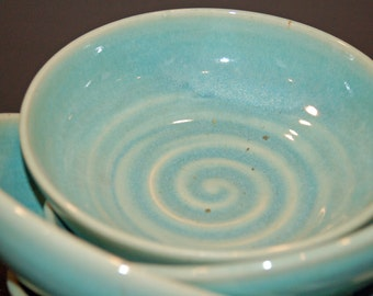 Ceramic Bowls, Pottery Handmade, Green Pottery Bowls, Soup Bowls, Ice Cream Bowls, Nesting Bowls, Ceramics and Pottery