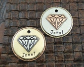 Diamond-Ruby-Jewel-Custom Pet ID Tag, Dog Tag for Dogs-Personalized Dog Collar ID Tag