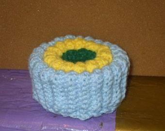 ring crocheted pincushion