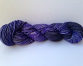 Hand Dyed Yarn - Merino - Worsted Weight - Color Change - violet gray variegated