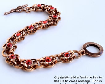 Tutorial Reiver Cross Chainmaille with Crystaletts