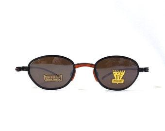 vintage 90's NOS matte black metal tortoise shell plastic sunglasses men women fashion accessories sun glasses retro modern new minimalist