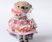 Artist teddy bear lady doll Delphine by Tatiana Skalozub