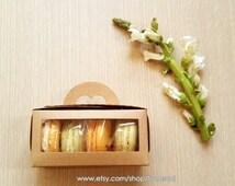 10 Kraft Window Tote Bakery Boxes