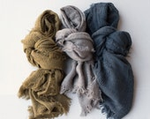 1 LEFT super soft long fringe weave scarf newborn wrap layer photography prop ReAdY tO sHiP