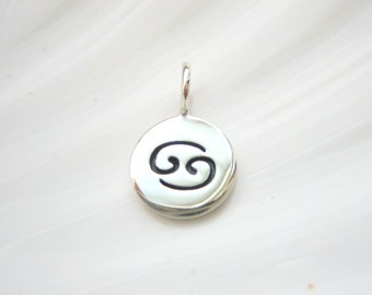 Sterling Silver Cancer Zodiac Charm - Add On - Astrological Sign