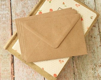 plain RIBBED Kraft C6 envelopes