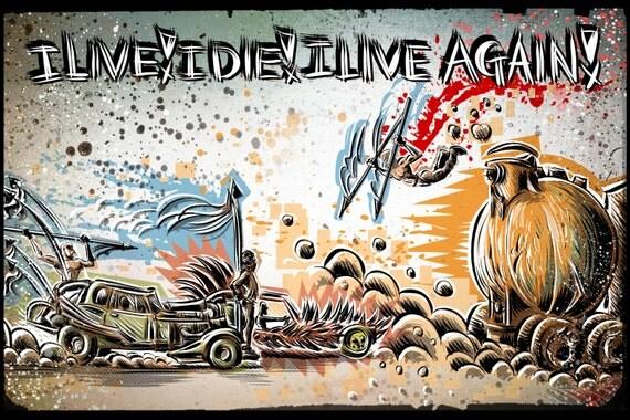 Mad Max Fury Road Art Print joe badon tom hardy furiosa furiousa charlize theron george miller road warrior beyond thunder dome Rockatansky