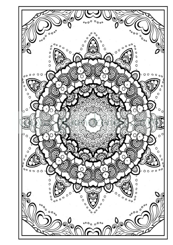 Mindfulness Coloring Pages Pdf : Adult colouring in pdf download zen mandalas garden anti