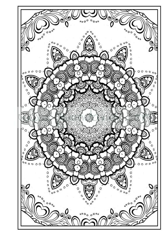 Zen Coloring Pages Pdf : Adult colouring in pdf download zen mandalas garden anti
