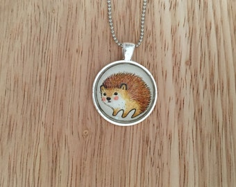 Here Comes Hedgie Pendant Necklace