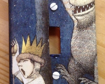 Where the Wild Things Are switch plate cover
