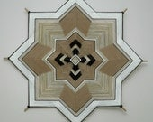 1970's special, Ojo de Dios, 8-sided, 24 inches, wool yarns, by custom order