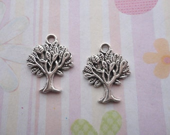 10pcs antique silver tree leaf/leafage/leaves findings 17x22mm