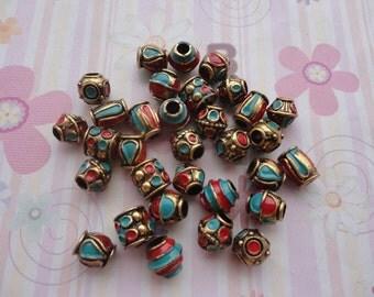 10pcs around 10mmx10mm Acrylic Beads with 5mm Hole